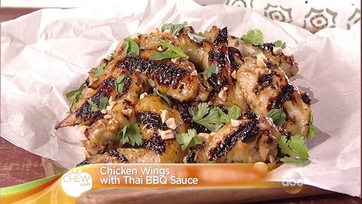 Michael Symon\'s Grilled Chicken Wings with Thai BBQ Sauce