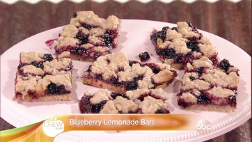Carla Hall\'s Blueberry Lemonade Bars