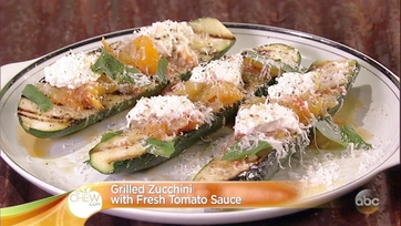 Clinton Kelly\'s Grilled Zucchini with Fresh Tomato Sauce