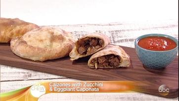 Mario Batali\'s Calzones with Zucchini and Eggplant Caponata