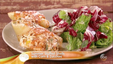 Michael Symon\'s Summer Stuffed Shells with Corn and Zucchini