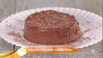 Carla Hall\'s Mexican Chocolate Blender Flan