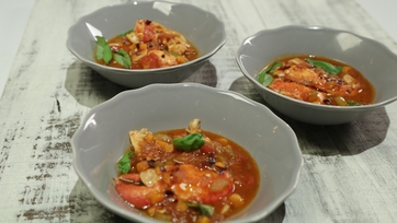Mario Batali\'s Lobster Americaine & Michael Symon\'s Sweet Corn and Tarragon Risotto Part 1