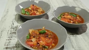 Mario Batali\'s Lobster Americaine & Michael Symon\'s Sweet Corn and Tarragon Risotto Part 1