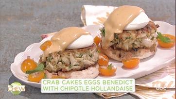 Mario Batali\'s Crab Cake Eggs Benedict with Chipotle Hollandaise: Part 1