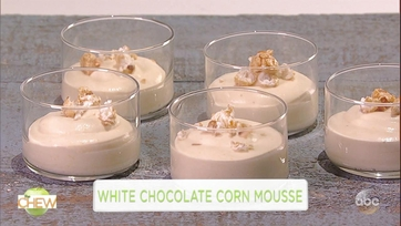 Carla Hall and Fantasia Make White Chocolate Corn Mousse: Part 1
