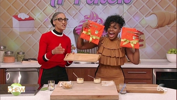 Carla Hall and Fantasia Make White Chocolate Corn Mousse: Part 2