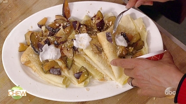 Mario Batali Makes a Crepe With Plums and Cream Cheese Filling for #DAREWEEK: Part 2