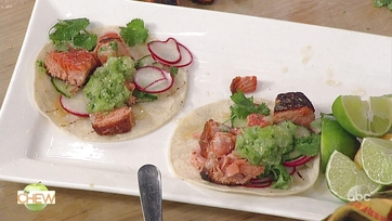 Mario Batali\'s Charred Salmon Tacos: Part 2
