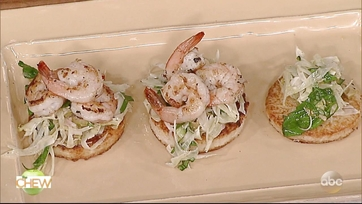 Carla Hall\'s Mediterranean Shrimp Grits Cakes: Part 2