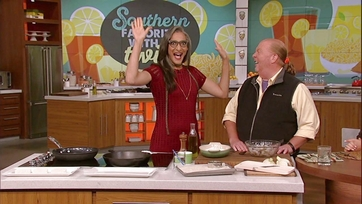 Carla Hall\'s Mediterranean Shrimp Grits Cakes: Part 1