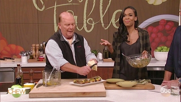 Mario Batali Makes Pumpkin Bruschetta With Michelle Williams: Part 2