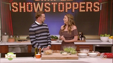 Sutton Foster Makes Mexican Chicken Caesar Salad with Clinton Kelly on The Chew: Part 2