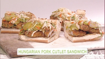 Mario Batali\'s Hungarian Pork Cutlet Sandwich: Part 1