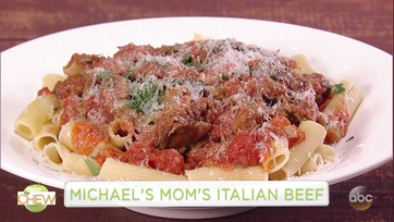 Michael Symon and Alfonso Ribeiro Make His Mom\'s Italian Beef: Part 1