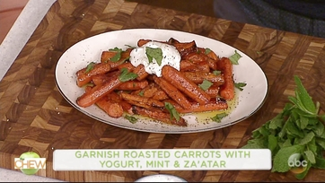 Michael Symon Makes Roasted Carrots With Za\'atar, Yogurt And Mint