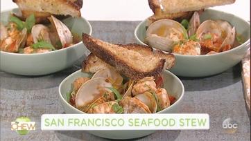 Carla Hall and Clinton Kelly Make a San Francisco Seafood Stew: Part 1