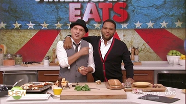 Michael Symon and Anthony Anderson Make a Meatloaf Parm Sandwich: Part 2