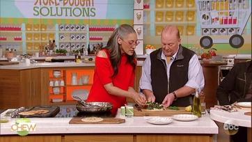 Carla Hall\'s Kale Hummus Flatbreads: Part 2