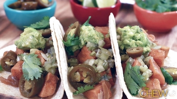 One Chew Three: Sweet Potato Tacos