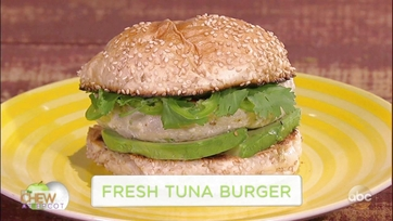 Michael Symon and Scott Foley Make a Fresh Tuna Burger: Part 1