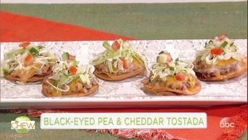 Black-Eyed Pea and Cheddar Tostada: Part 1