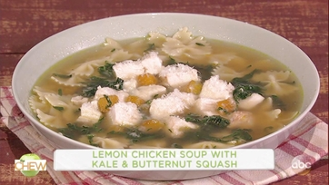 Roselyn Sanchez and Clinton Kelly Make Lemon Chicken Soup with Kale and Butternut Squash: Part 1