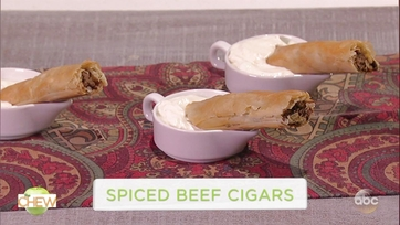 Chip and Joanna Gaines Make Spiced Beef Cigars with Michael Symon: Part 1