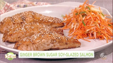 Danai Gurira and Clinton Kelly Make Ginger Brown Sugar Soy-Glazed Salmon: Part 1
