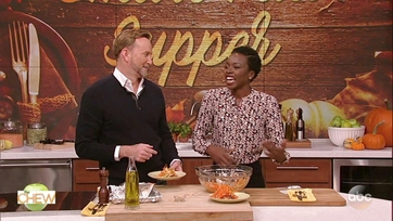 Danai Gurira and Clinton Kelly Make Ginger Brown Sugar Soy-Glazed Salmon: Part 2
