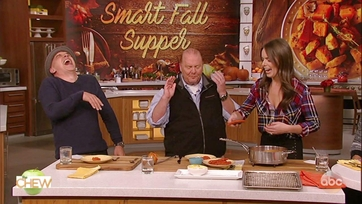 Serena Wolf and Mario Batali Make Buffalo Chicken Tenders with Yogurt Ranch: Part 2
