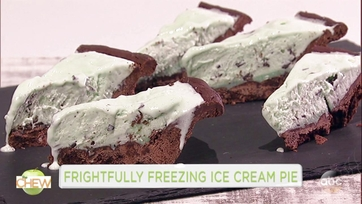 Boris Kodjoe and Michael Symon Make Frightfully Freezing Ice Cream Pie: Part 1