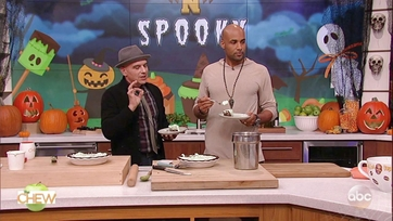 Boris Kodjoe and Michael Symon Make Frightfully Freezing Ice Cream Pie: Part 2