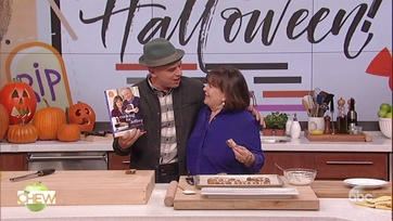 Ina Garten and Michael Symon Make Spicy Hermit Bars: Part 2