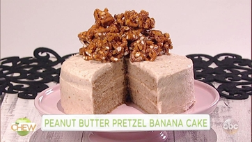 Peanut Butter Pretzel Banana Cake: Part 1
