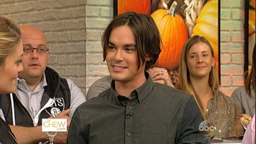 Tyler Blackburn Heats Up The Kitchen