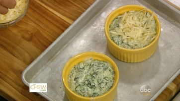 Dips: Cheesy Baked Spinach & Tomato