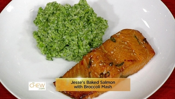 Baked Salmon w/ Broccoli Mash