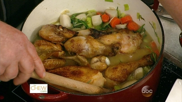 Braised Chicken with Leeks & Turnips: Part 1