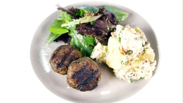 Beef Rissoles with Grilled Potatoes: Part 1
