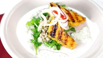 Wolfgang Puck\'s Tandoori Salmon Salad: Part 1