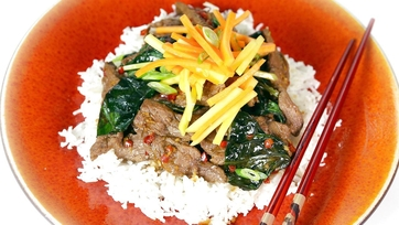 Beef Stir Fry w/ Mango Carrot Salad - 2