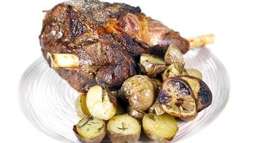 Leg of Lamb with Lemon Potatoes: Part 2