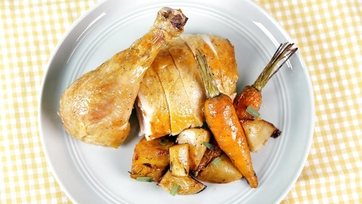 Roast Chicken with Tarragon Vegetables: Part 1