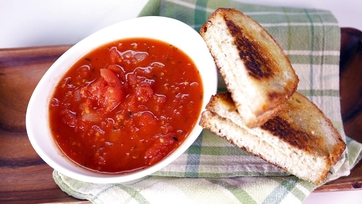 Tomato Soup & Grilled Hummus Sandwich: Part 2