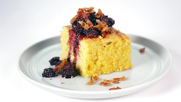 Fresh Grilled Cornbread with Bacon-Blackberry Compote: Part 1