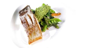 Salmon with Pea-Mint Pesto: Part 1