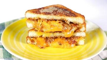 Grilled Cheese w/ Bacon-Onion Jam & Meatloaf Sandwich: Part 1