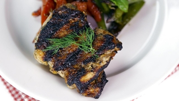 Buttermilk Grilled Chicken Thighs with Grilled Vegetables: Part 1