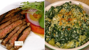 Rib Steak with Adobo Rub & Creamed Kale Au Gratin: Part 1